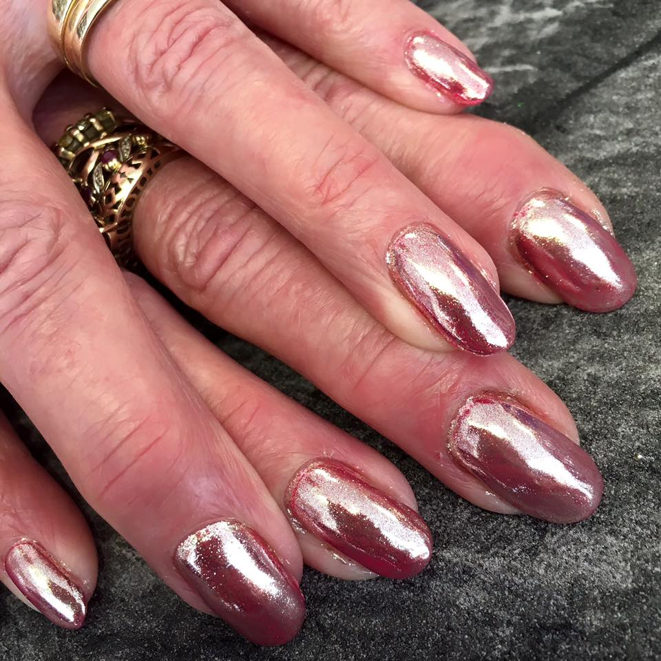 blush beauty salon kidderminster chrome nails