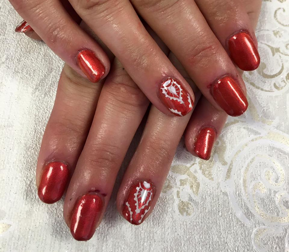 blush beauty kidderminster salon red glitter
